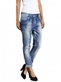 Only Damen Jeans Lizzy - Antifit Jeans - Light Blue
