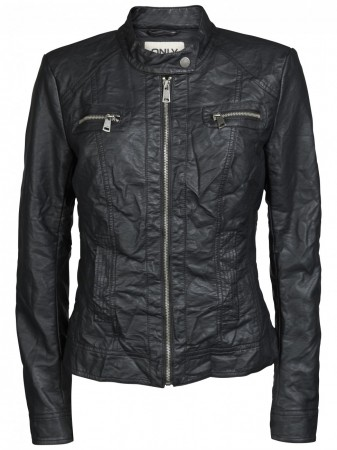 Only Damen Jacke Bandit Biker - Black