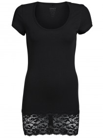 Bild 2 - Only Damen Top Live Love Lace SS Top