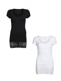 Bild 1 - Only Damen Top Live Love Lace SS Top