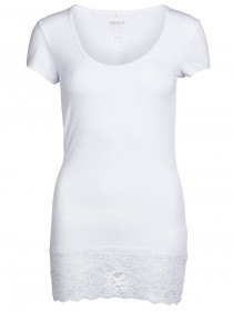 Bild 3 - Only Damen Top Live Love Lace SS Top
