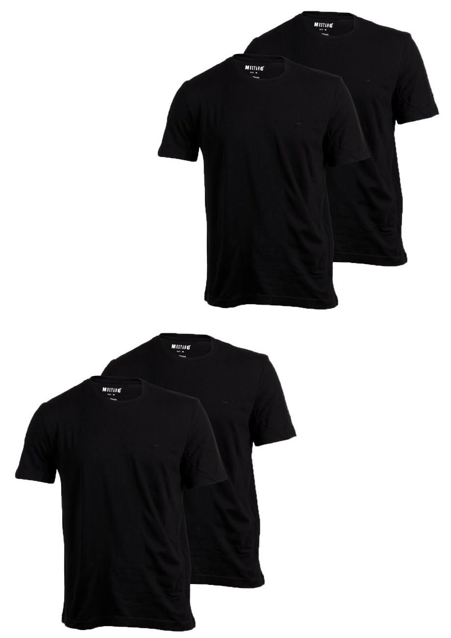 Mustang Herren Mustang T-Shirt O-Neck Rundhals 4er Pack