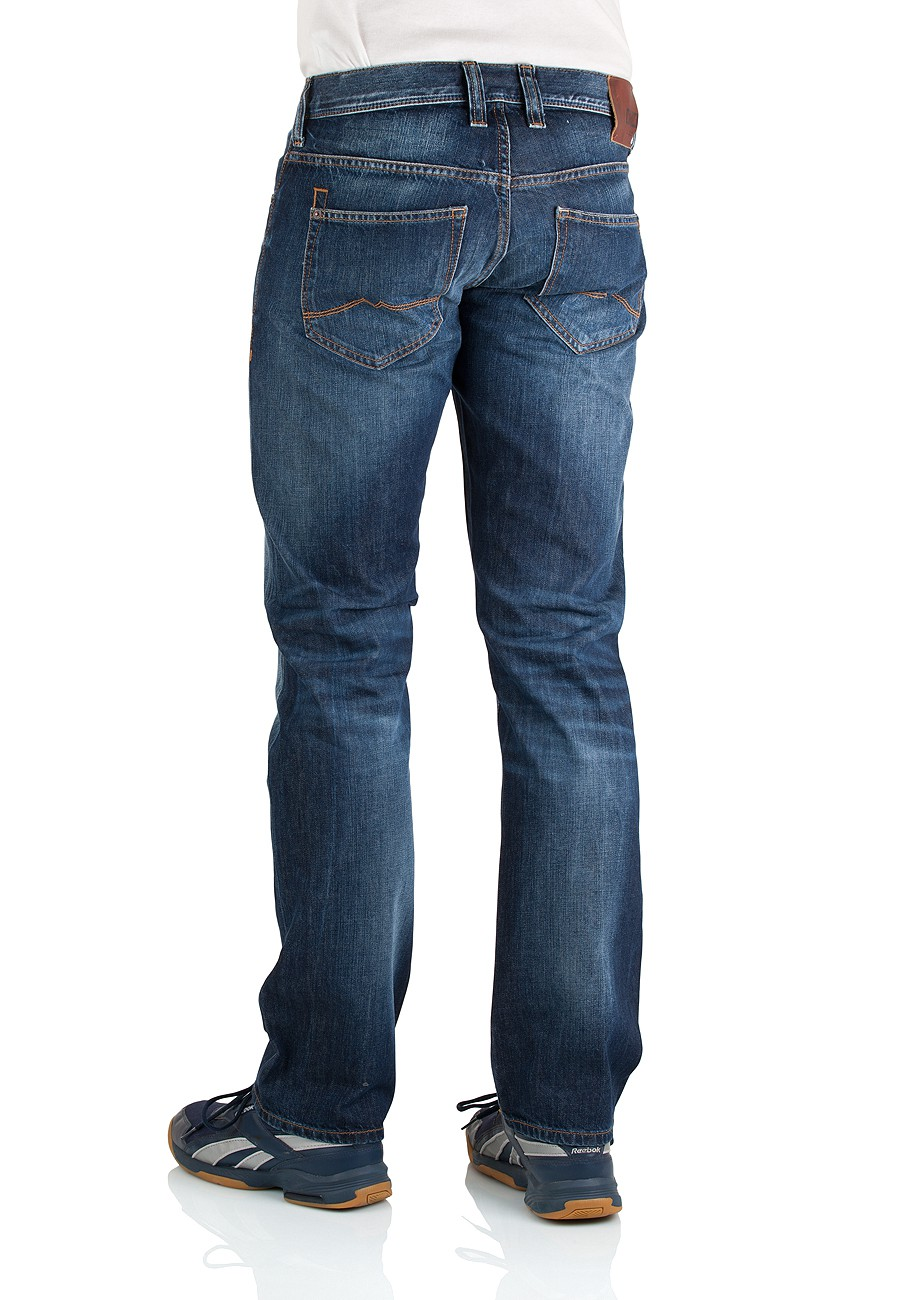 Mustang Herren Jeans New Oregon 3115-5110-593 Straight Fit dark rinse used