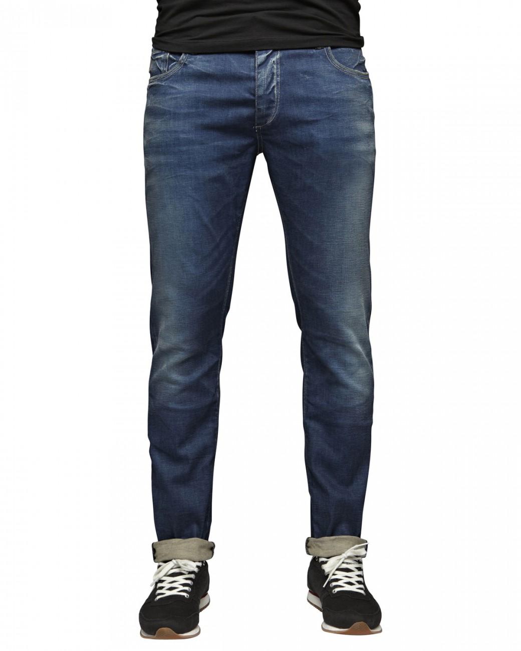 jack jones herren jeans jjtim slim fit medium blue denim kaufen jeans direct de. Black Bedroom Furniture Sets. Home Design Ideas