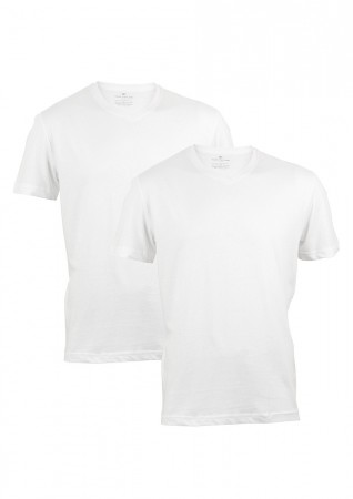 Tom Tailor Herren V- Neck T-Shirt - 2er Pack
