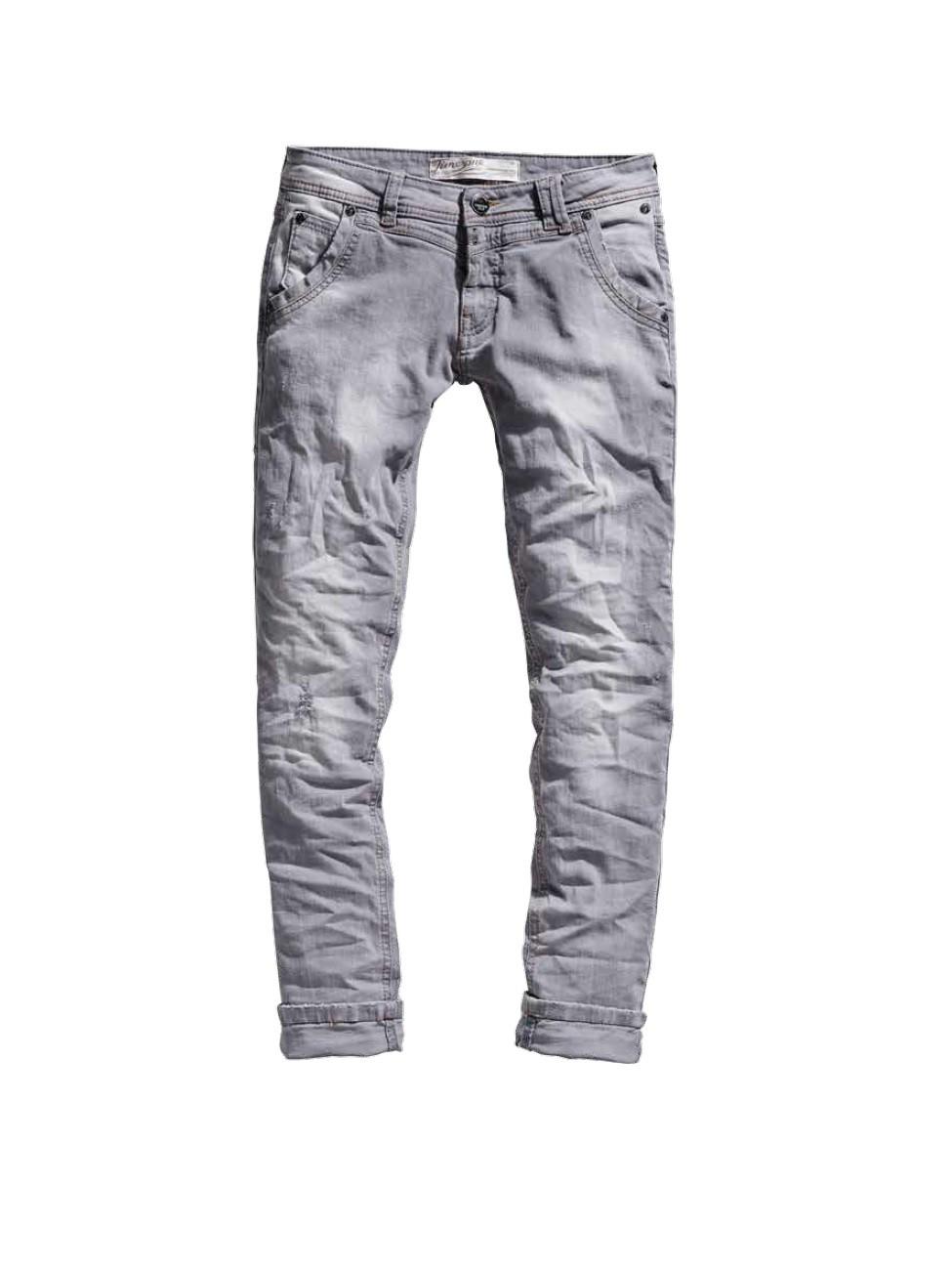 timezone damen 7 8 jeans nalitz 16 5405 slim fit light grey destroy neu ebay. Black Bedroom Furniture Sets. Home Design Ideas