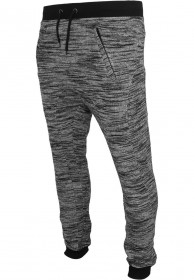 Bild 1 - Urban Classics Herren Fitted Terry Melange Sweatpants Shorts