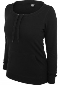 Urban Classics Damen Sweatshirt Damen Wideneck Pocket Crew