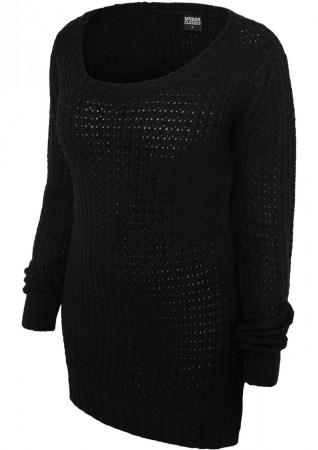 Urban Classics Damen Long Wideneck Sweatshirt