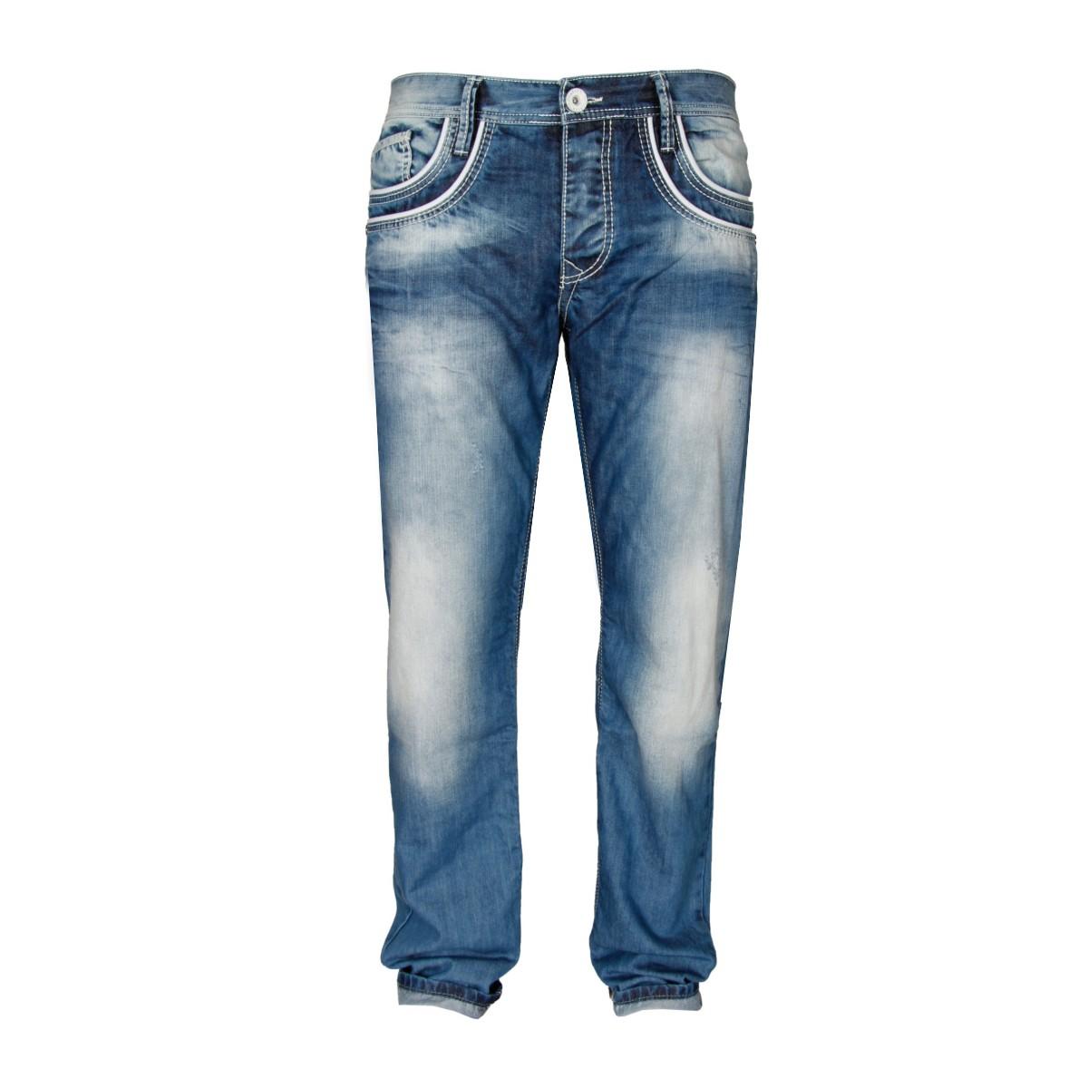 cipo baxx herren jeans white line regular fit blau kaufen jeans direct de. Black Bedroom Furniture Sets. Home Design Ideas