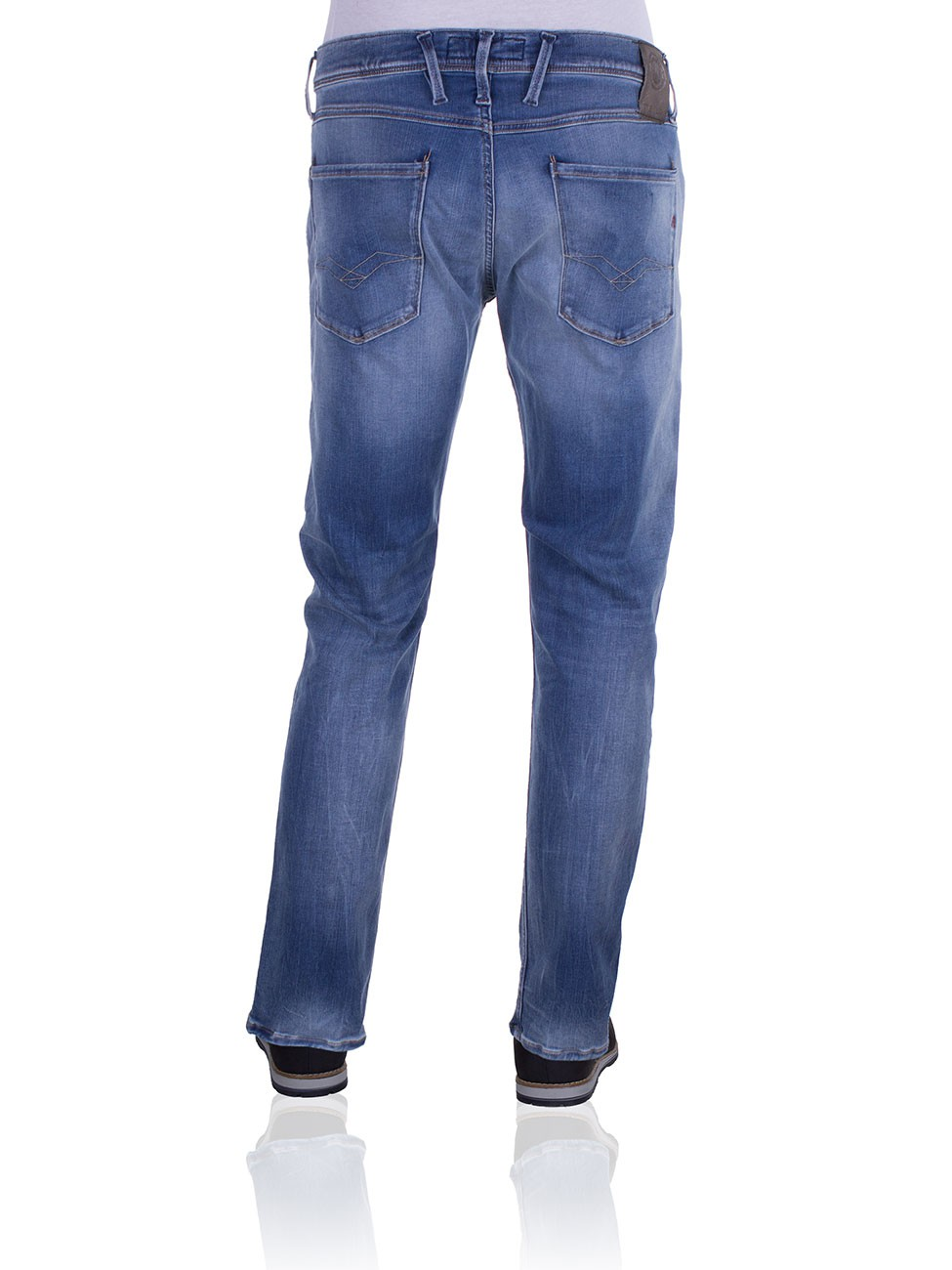 Replay Hyperflex Herren Jeans Anbass - Slim Fit - Mid Blue