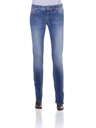 Replay Hyperflex Damen Jeans Luz - Slim Fit - Mid Blue