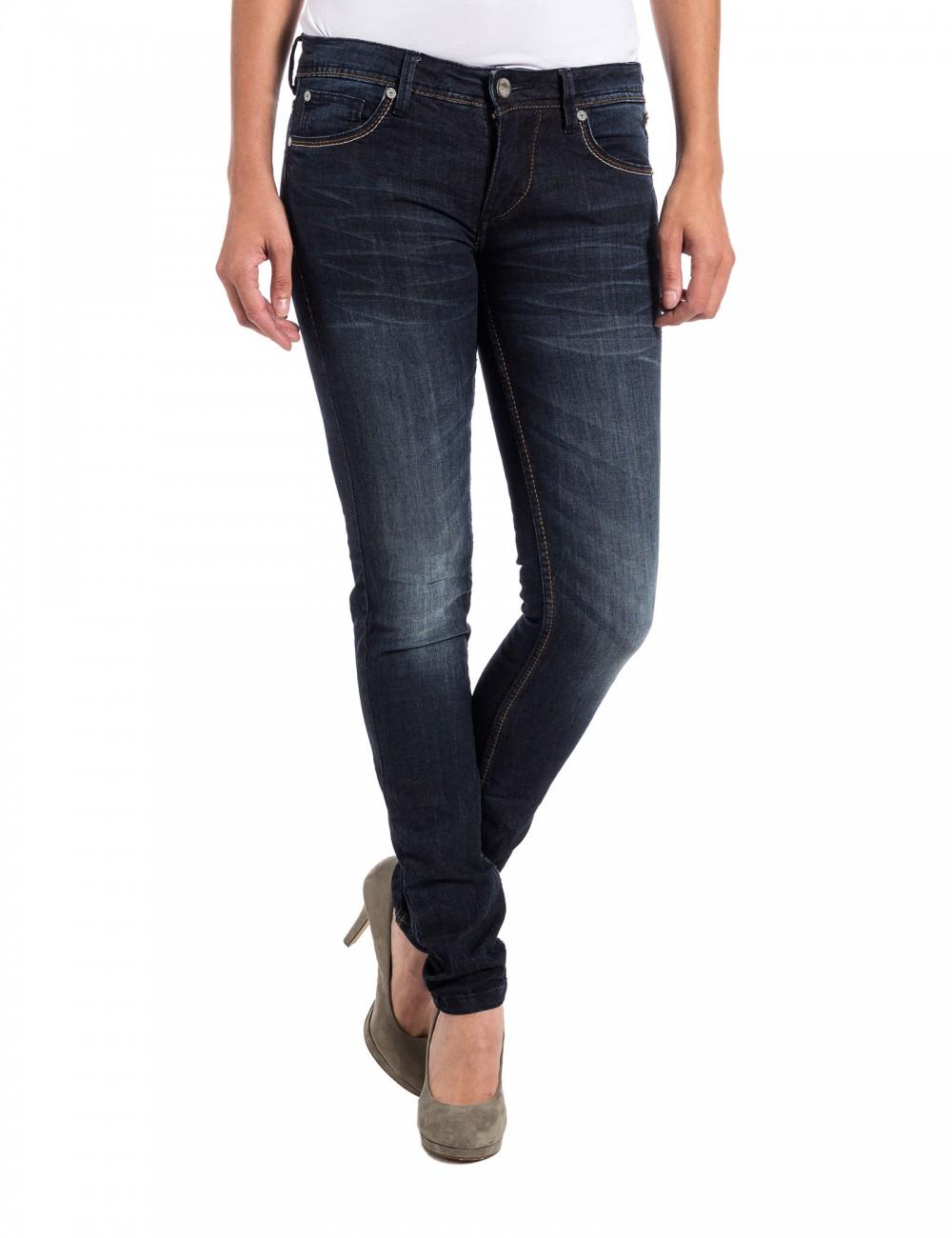 timezone damen jeans aleenatz 16 5471 tight fit raywash ebay. Black Bedroom Furniture Sets. Home Design Ideas