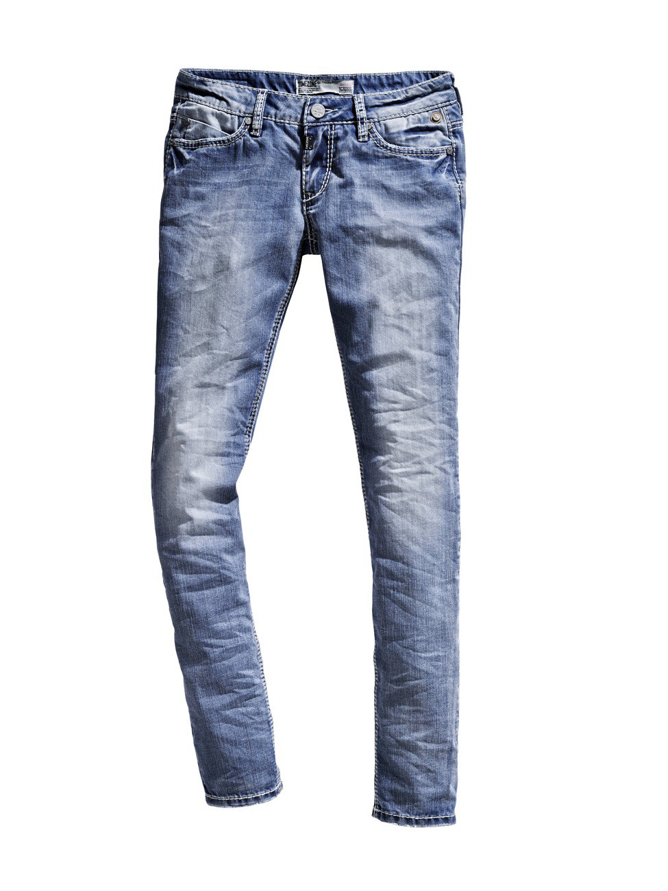 Timezone Damen Jeans NiniTZ - Slim Fit - Cool Bleach Wash