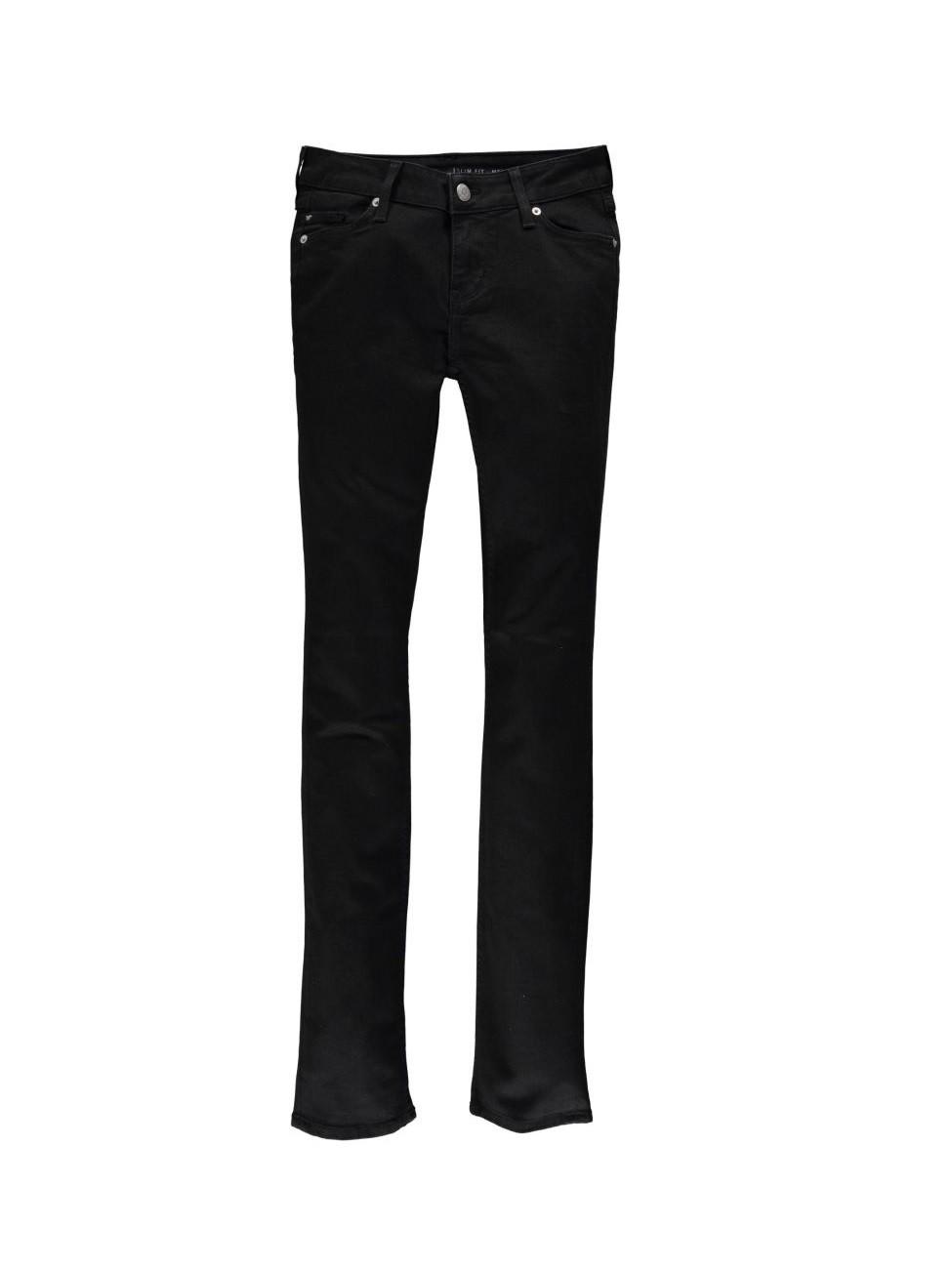 Mustang Damen Jeans Jasmin - Slim Fit - Midnight Black W 27 L 30, midnight-black