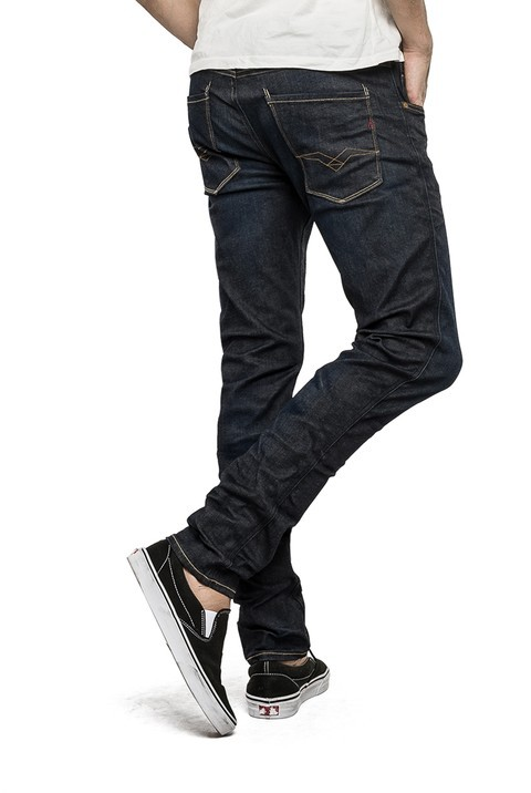 Replay Hyperflex Herren Jeans Anbass - Slim Fit - Dark Blue