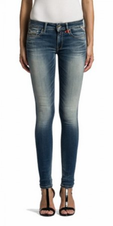 Replay Hyperflex Damen Jeans Luz - Slim Fit - Light Blue