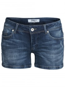 Only Damen Jeans Short CORAL - Dark Blue Denim