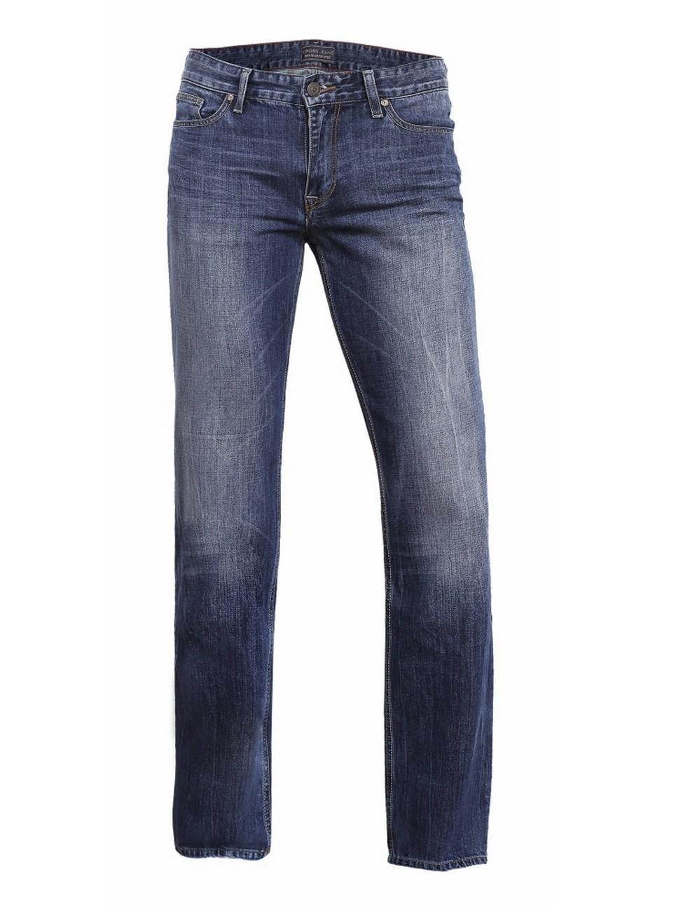 cross herren jeans antonio e161 009 relax fit deep blue worn out ebay. Black Bedroom Furniture Sets. Home Design Ideas