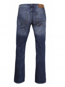 Cross Herren Jeans Antonio - Relax Fit - Deep Blue Worn Out