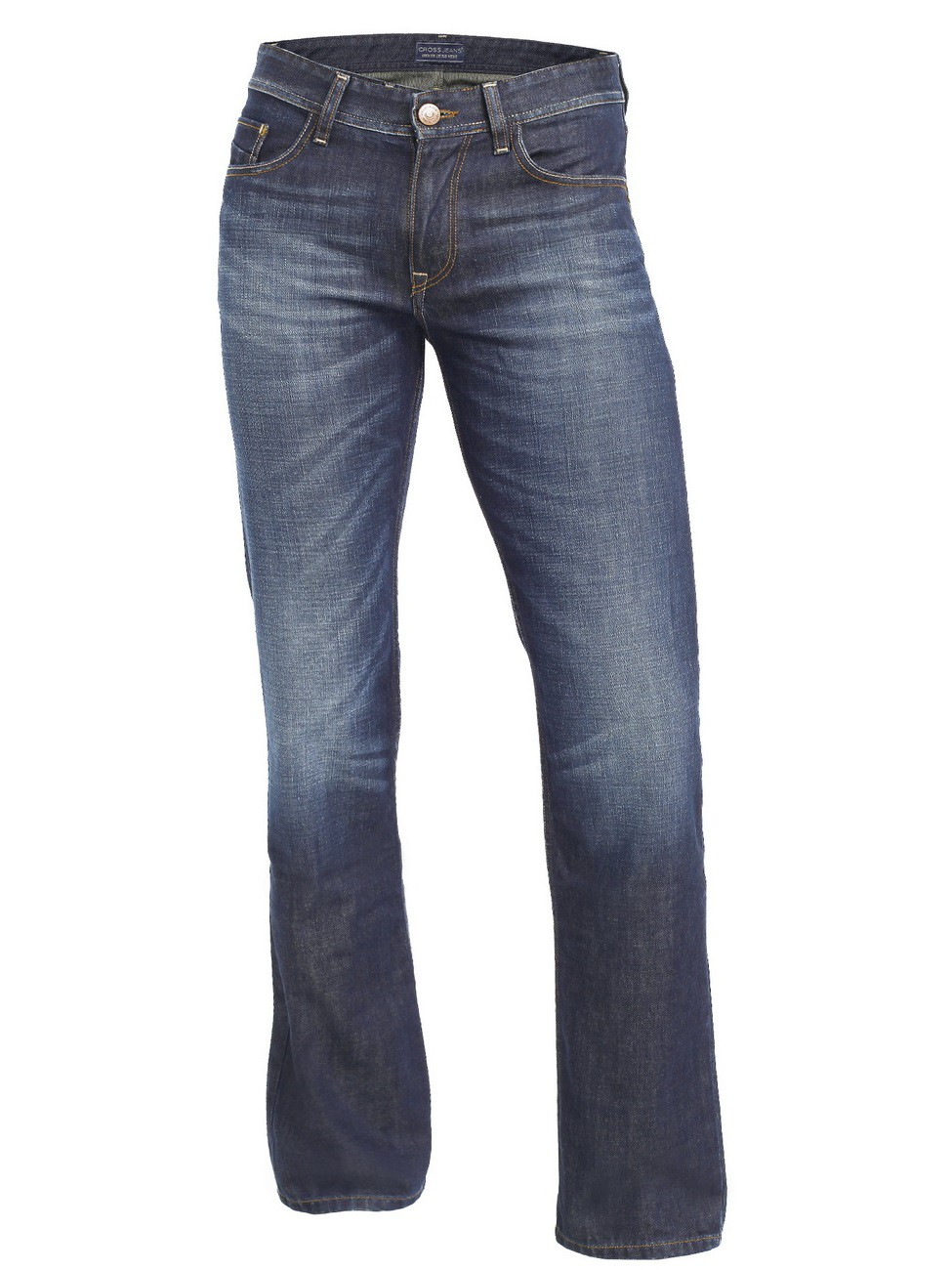Cross Herren Jeans Antonio - Relax Fit - Rebel Deep Blue Used