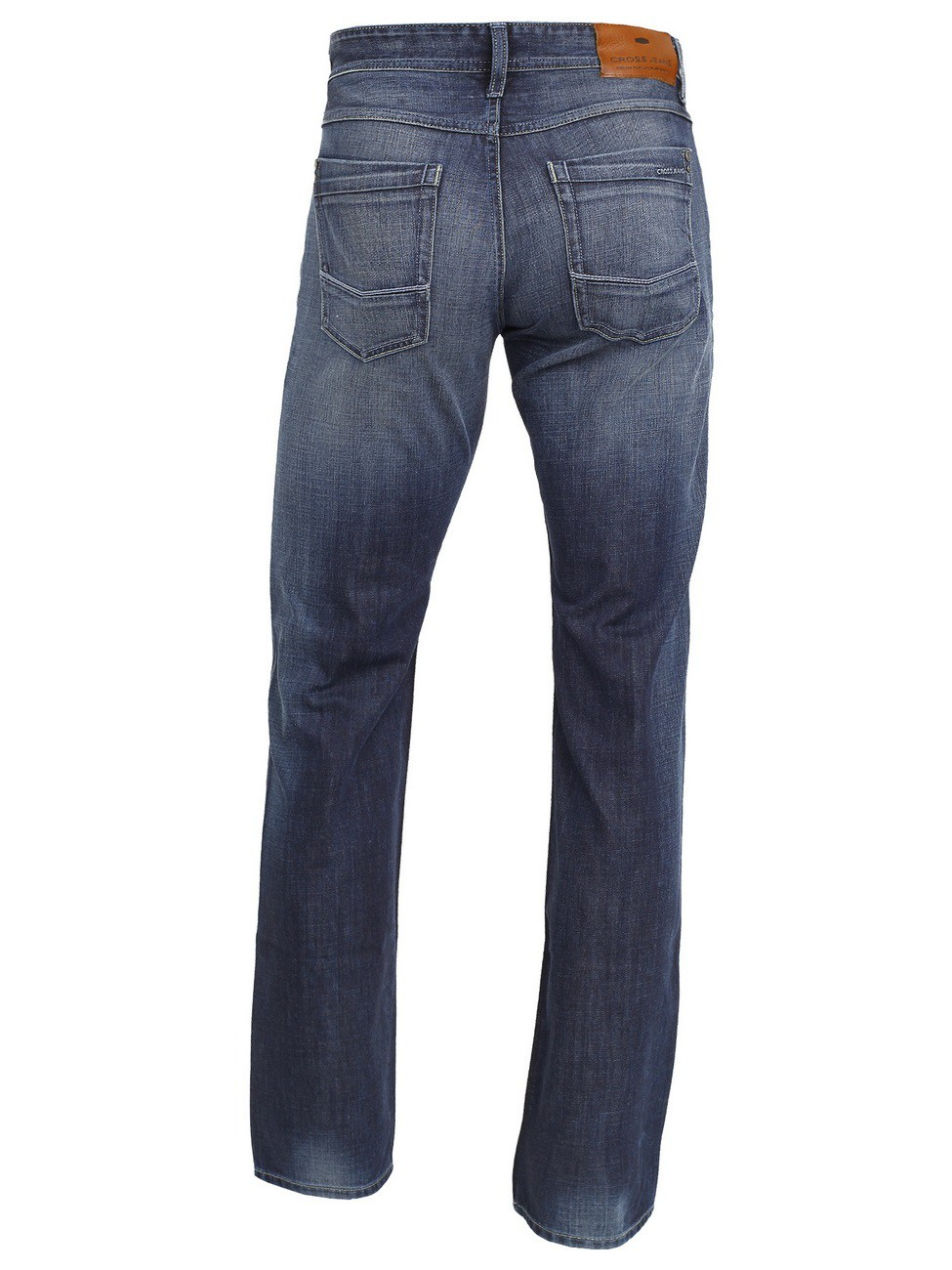 Cross Herren Jeans Antonio - Relax Fit - True Dark Blue Used