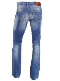 Bild 2 - Cross Herren Jeans Dylan - Regular Fit - Bright Blue Used