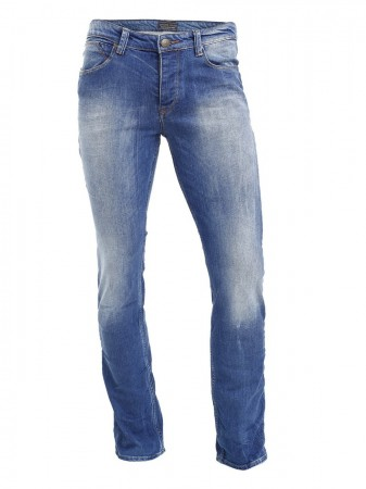 Cross Herren Jeans Dylan - Regular Fit - Bright Blue Used