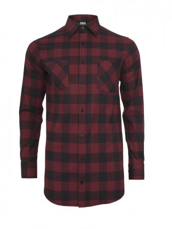 Urban Classics Herren Long Checked Flanell T-Shirt