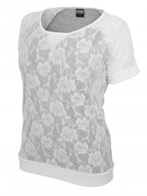 Urban Classics Damen Double Layer Laces Tee