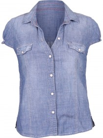 Wrangler Damen Jeanshemd - Light Blue