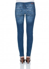 Bild 2 - Cross Damen Jeans Melissa - Skinny Fit - Aqua Marine Blue Used