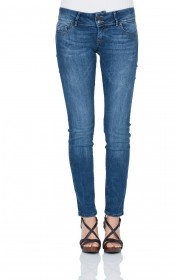 Bild 1 - Cross Damen Jeans Melissa - Skinny Fit - Aqua Marine Blue Used