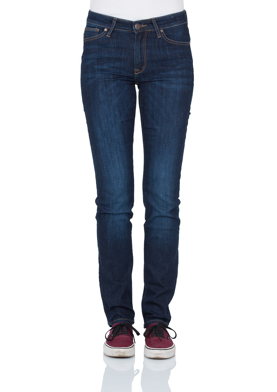 Cross Damen Jeans Anya - Slim Fit - Dark Blue Used