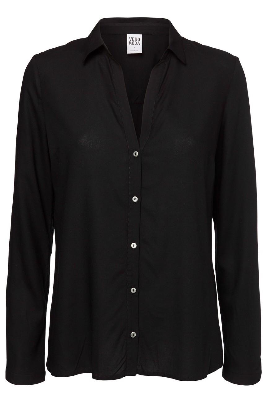 Vero Moda Damen Bluse VMMANDA S, black (10138022)