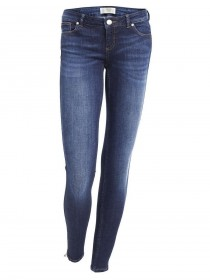 Bild 1 - Cross 7/8 Damen Jeans Giselle - Skinny Fit - Ocean Blue Used
