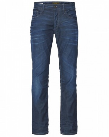 Jack & Jones Herren Jeans JJTIM - Slim Fit - Medium Blue Denim