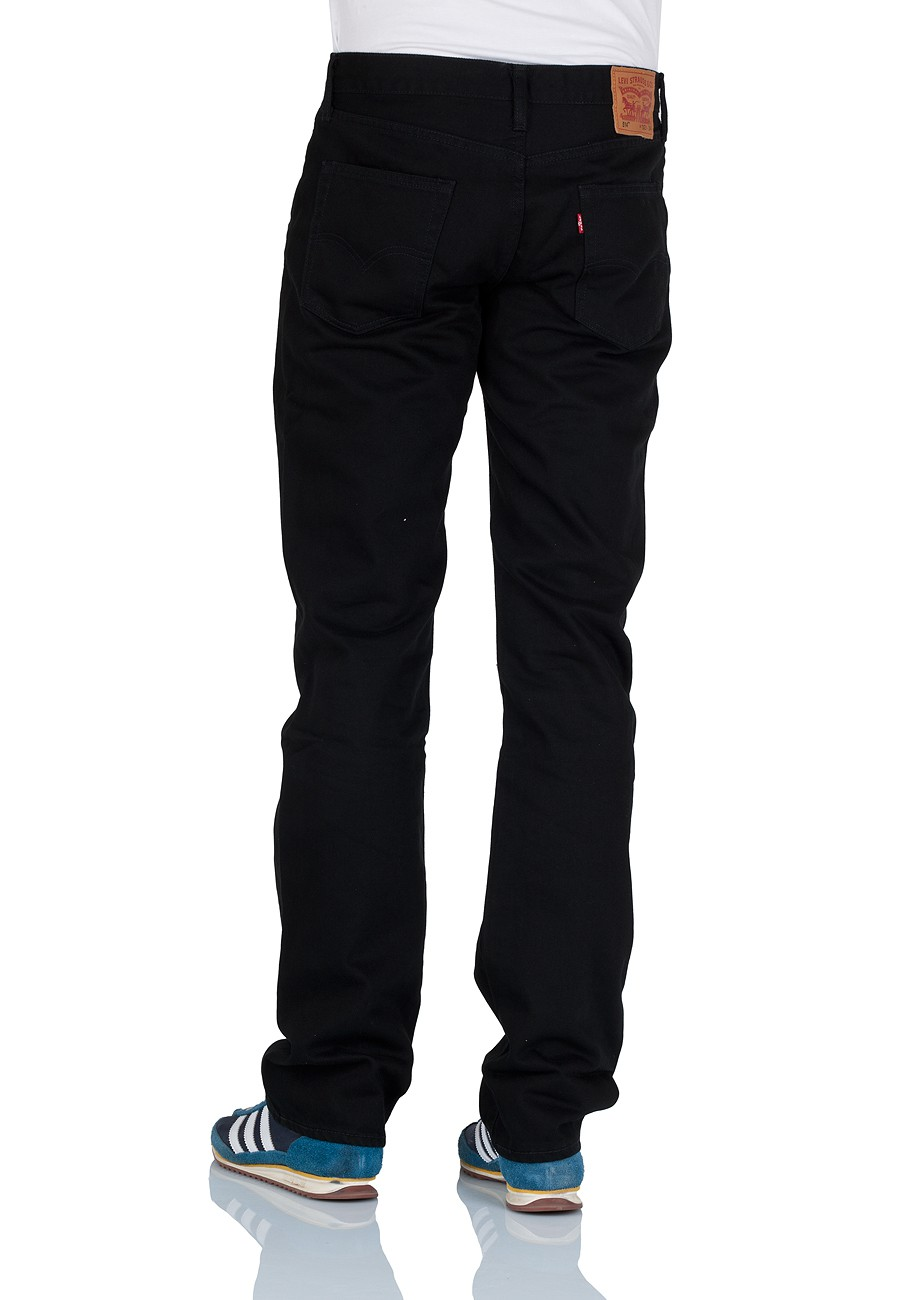 levi 39 s herren jeans 514 0738 slim straight black ebay. Black Bedroom Furniture Sets. Home Design Ideas