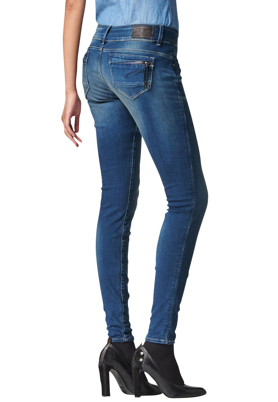 G-Star Jeans Skinny Midge Cody Damen Mid-Rise Jeans - Superstretch Aged