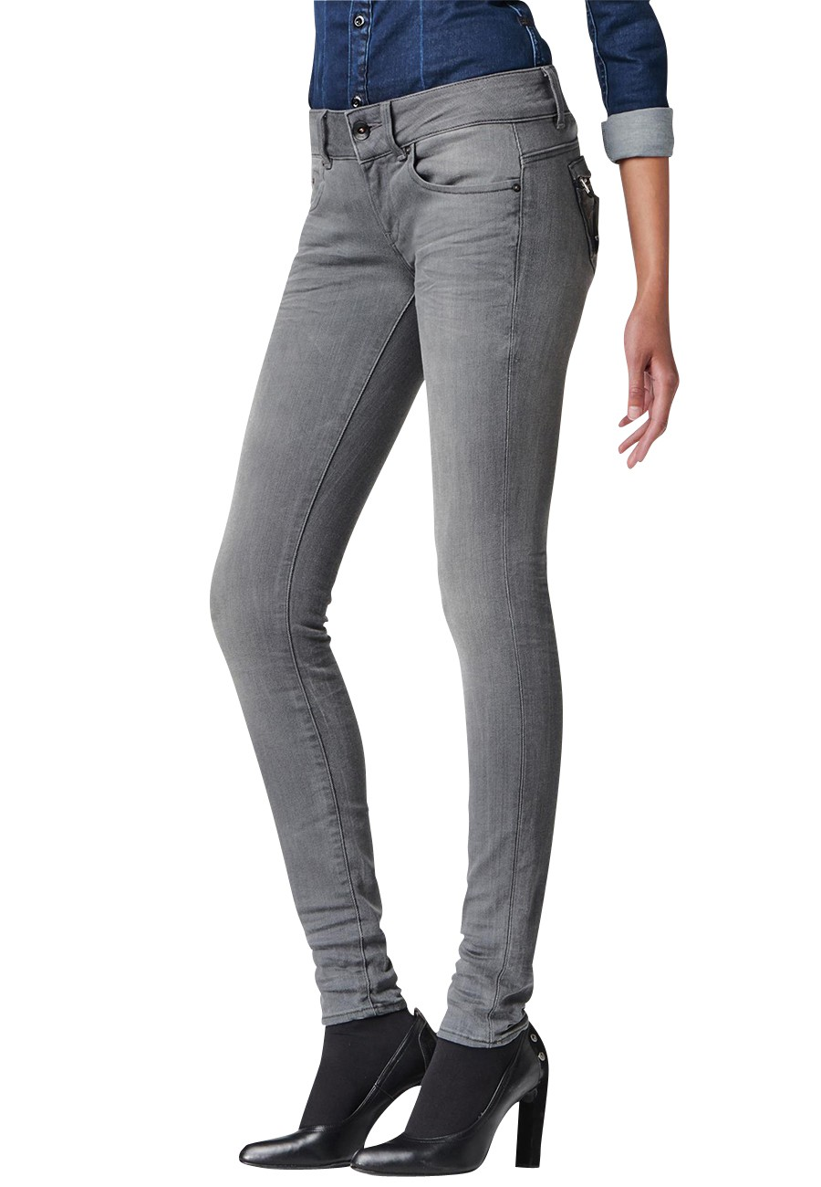 g star jeans midge cody skinny damen jeans slander grey. Black Bedroom Furniture Sets. Home Design Ideas