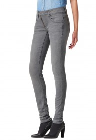 G-Star Jeans  Lynn Zip Skinny Damen Jeans slander - Grey Superstretch