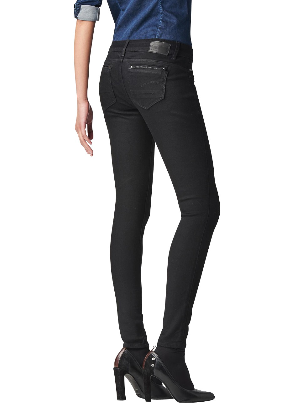 g star jeans midge super skinny zip damen low rise jeans. Black Bedroom Furniture Sets. Home Design Ideas