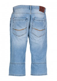 Cross Herren Jeans Long Shorts Martin - Faded Out