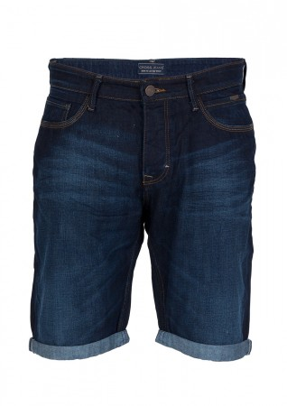 Cross Herren Jeans Shorts Leom - Shiny Dark Blue