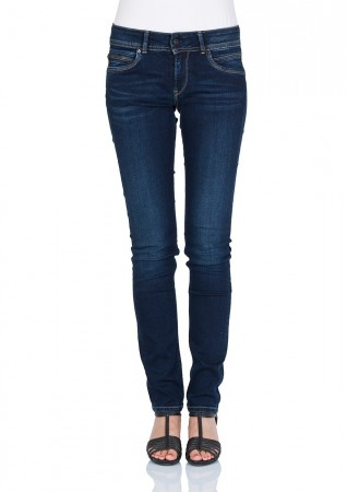 Pepe Jeans Damen Jeans New Brooke - Slim Fit - Mid Blue