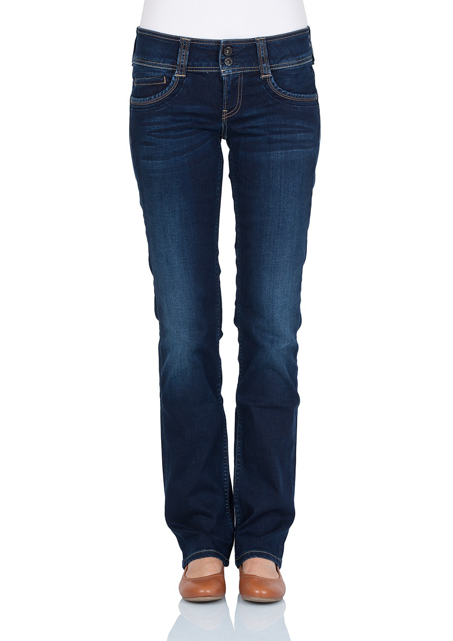 Pepe Jeans Damen Jeans Gen - Regular Fit - Mid Blue