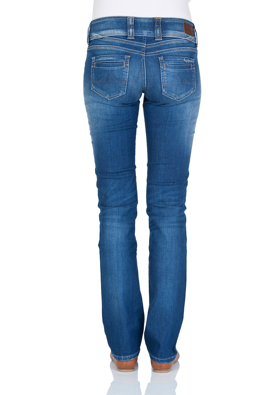 Pepe Jeans Damen Jeans Gen - Regular Fit - Royal Blue