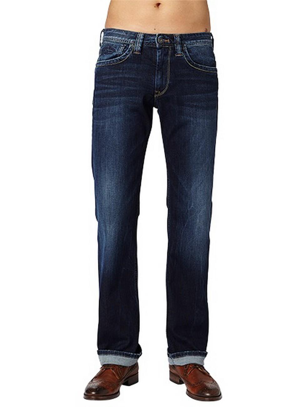 bb2e88d7d304 Pepe Jeans Mens Jeans pm200143z45 Kingston Zip Regular Fit Dark Blue ...