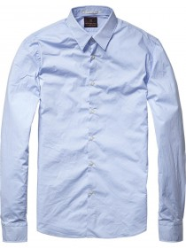 Scotch & Soda Herren Freizeithemd Classic - White - Blue -Night 124889