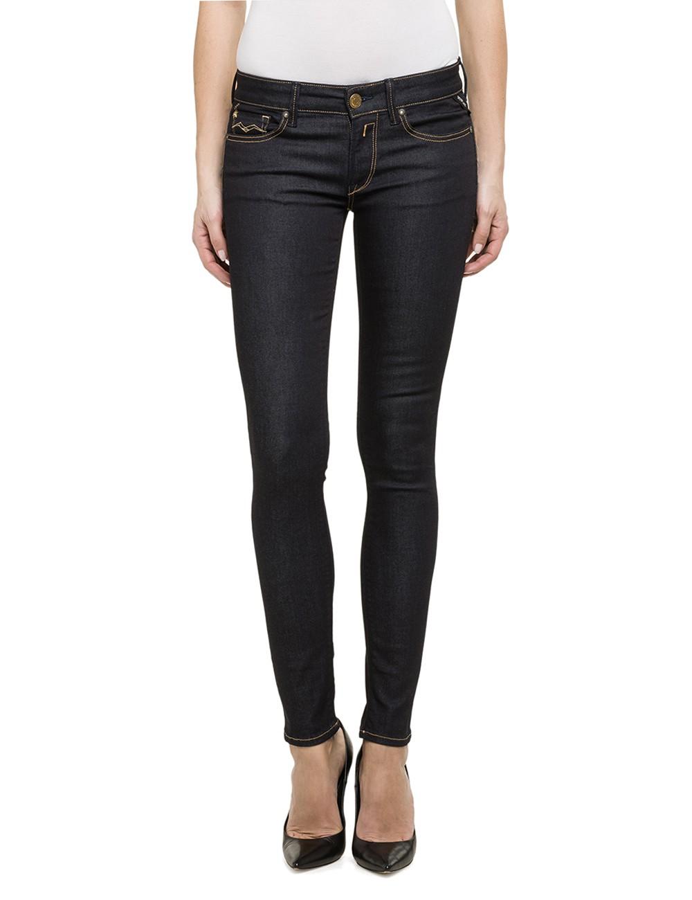 replay damen jeans luz skinny fit dark indigo kaufen. Black Bedroom Furniture Sets. Home Design Ideas